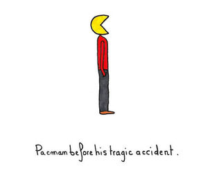 funny, accident, and illustration image