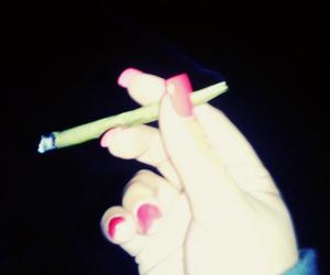 blunt, red nails, and smoke image