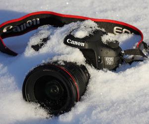 snow, canon, and camera image