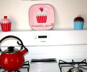 cupcake, decoration, and red image