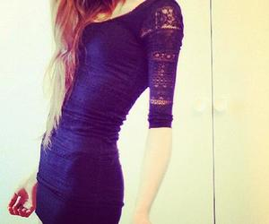 dress, skinny, and black image