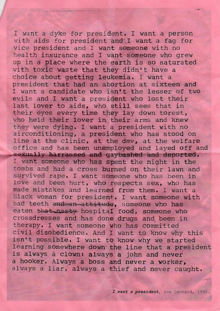feminism and zoe leonard image