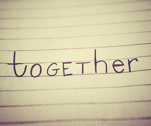 together and text image