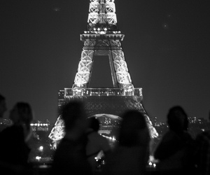 paris, couple, and light image
