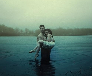 love, water, and couple image