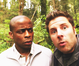 psych, shawn, and gus image