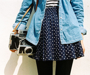 camera, skirt, and vintage image