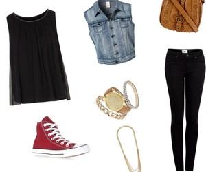 clock, clothes, and converse image