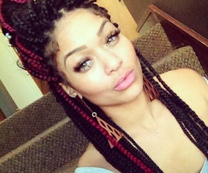 braids, box braids, and hair image