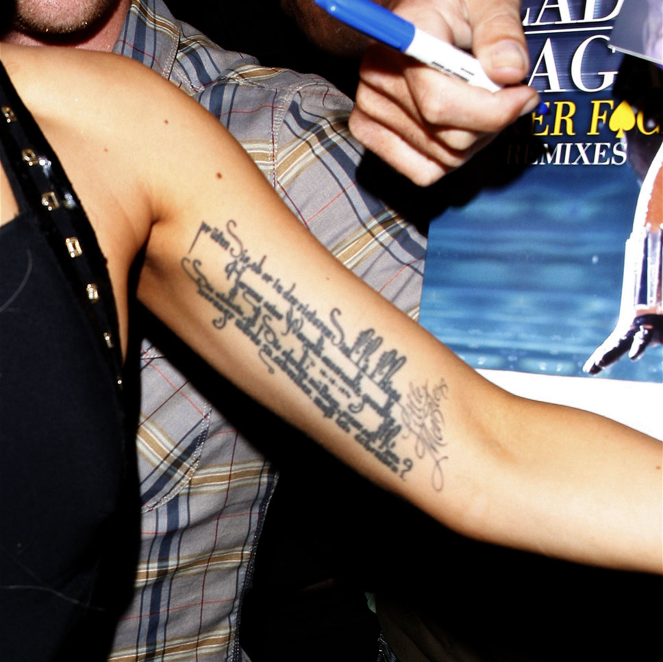 Lady Gaga Unterarm Bizeps Tattoo Foto | Posh34.de - Bizeps Tattoo