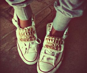 chuck taylors, converse, and studs image