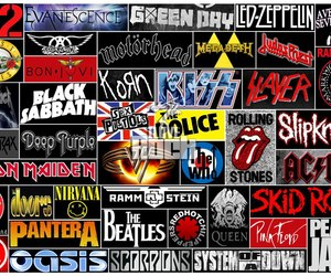 ac dc, evanescence, and kiss image