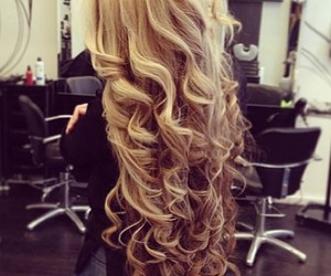 blond, long, and hair image