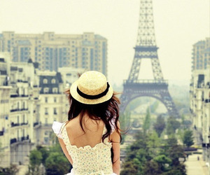 dress, france, and eiffel tower image