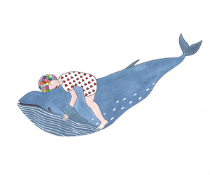 whale, drawing, and art image