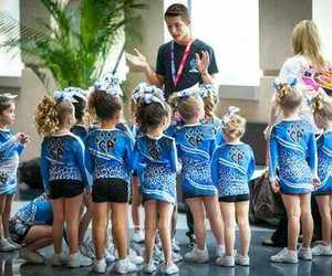 kids, young, and cheerleading image