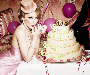 cake, kylie minogue, and party image