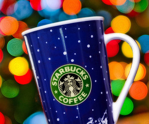 starbucks, christmas, and cup image