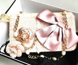 pink, bow, and bag image