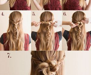 beauty, summer, and braids image