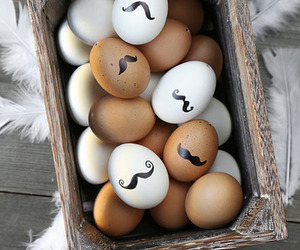 eggs, easter, and mustache image