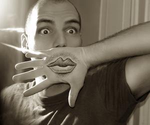 moustache, lips, and boy image