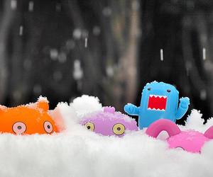 colorful, domo-kun, and ice image