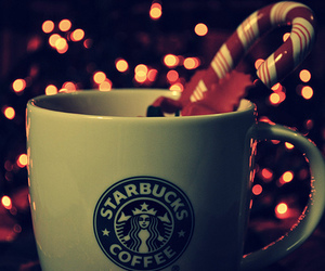 starbucks, christmas, and coffee image