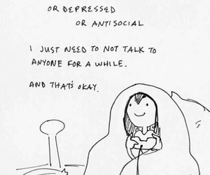 introvert, quotes, and alone image