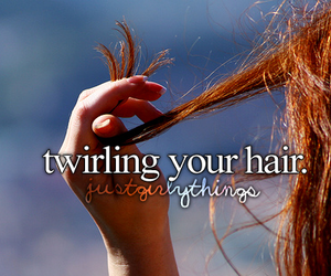 hair, girl, and twirling image