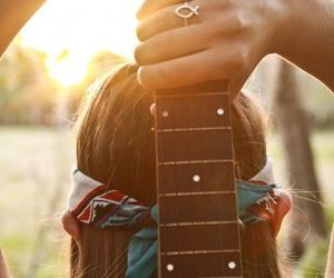 beach, girly, and guitar image