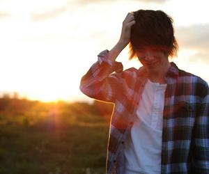 boy, cute, and sun image