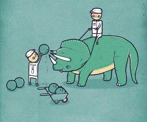dinosaur, funny, and bowling image