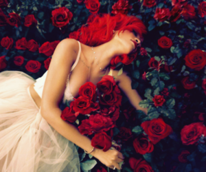 rihanna, rose, and red image
