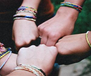 friends, friendship, and bracelet image