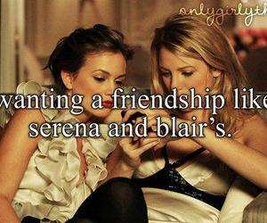 friendship, blair, and quote image