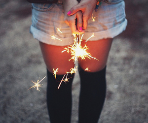firework, knee socks, and luz image