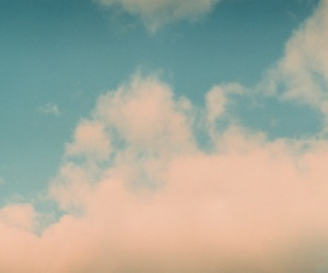 love, blue, and clouds image