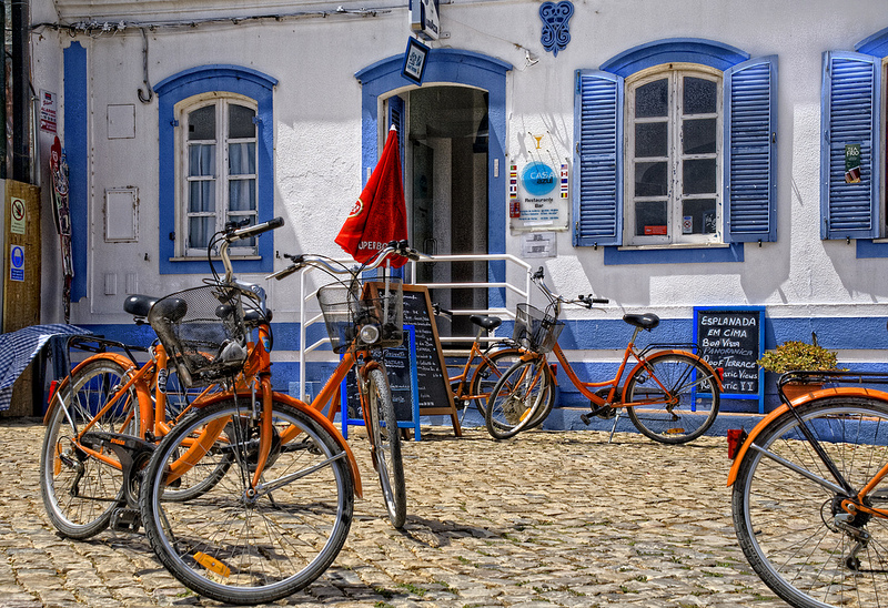 algarve, bicycle, and iberia image