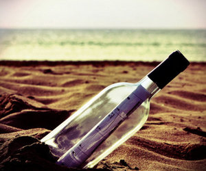 bottle, message, and sea image