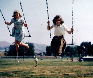 girl, kids, and swing image