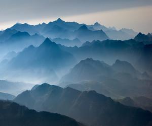 blue, fog, and sky image