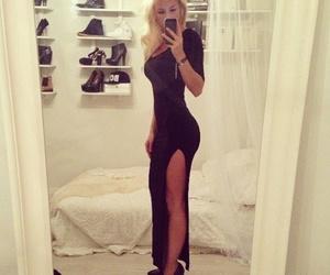 dress, dubtrackfm, and black image