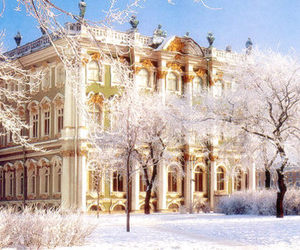 russia and winter palace image