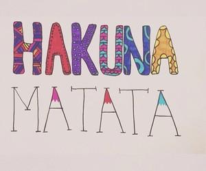 hakuna matata, quote, and text image