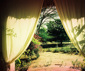 curtains, garden, and view image