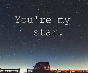 stars, love, and night image