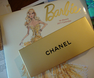 barbie, chanel, and gold image