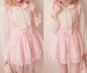 kawaii, pink, and dress image