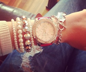 watch, fashion, and girl image